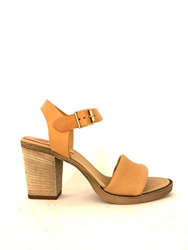 Sandali con tacco in pelle cinturino alla caviglia zeta shoes MainApps Cuoio