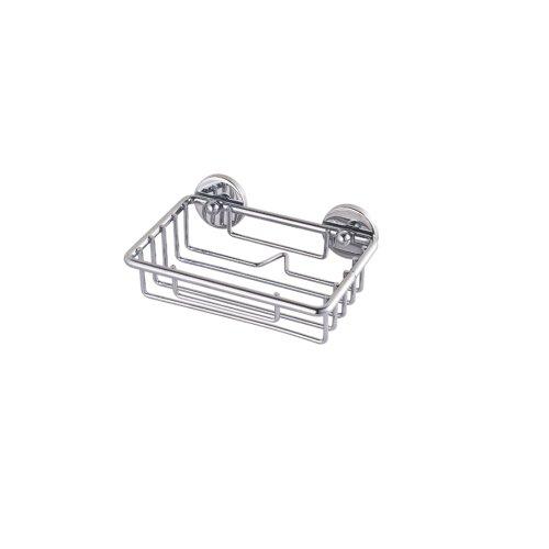 Price comparison product image Never Drill Again Nie Wieder Bohren BT126P Baath Plus Bath Soap Basket Attachment technology - Chrome