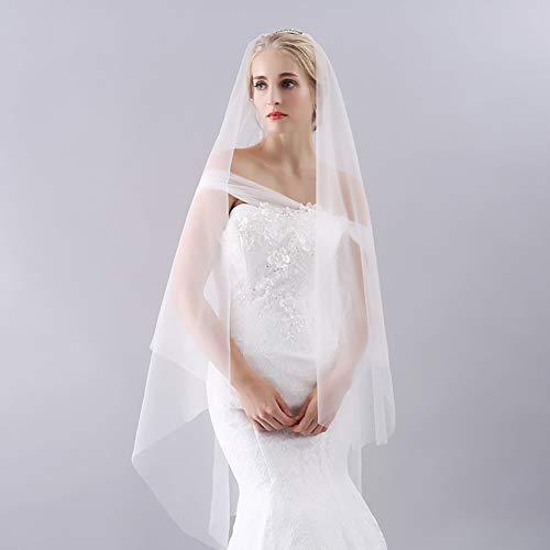 ZEMER Elegante Hochzeit Brautschleier, Weiche Einfache Hochzeit Haarschmuck Für Frauen Braut...