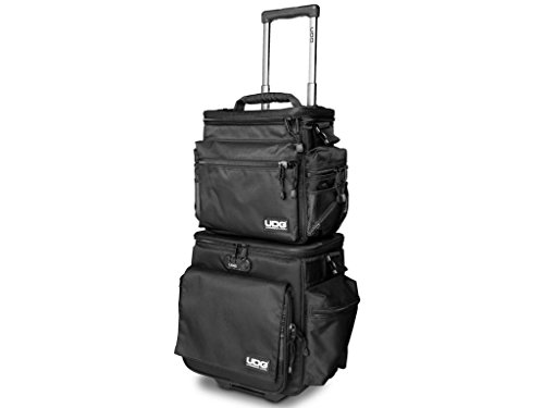 UDG Ultimate SlingBag Trolley Set DeLuxe Schwarz, Orange im Inneren MK2 (Ohne CD Wallet) U9679BL/OR (Rollende Computer Tasche)