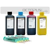 Ink Set For LEXMARK 100, 105, 150, 200Cartridges CMYK, 4x 500ml