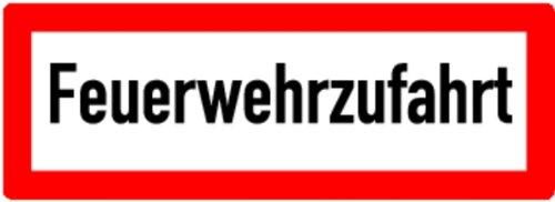 LEMAX® Schild Alu Feuerwehrzufahrt 210x594mm
