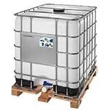 """Cisterna IBC in plastica 1000 Litri colore neutro, omologata, coperchio 150 mm, valvola scarico 2"""", pallet legno trattato"""