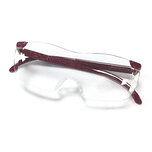 ZXH77f Lupe mit Kopfmontage Altmodische tragbare Brille 10x High-Definition-Objektiv (Color : Red)
