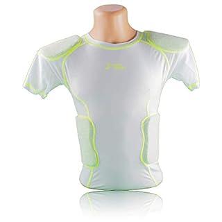 Active Athletics Honeycomb 5 Pad Shirt mit Rippen und Schulterpolsterung, weiß, Gr. M