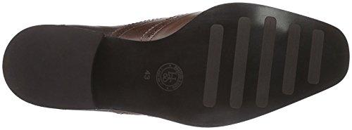 Hemsted & Sons , Chaussures à lacets homme marron foncé