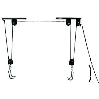 P4B Universal Fahrrad-Deckenlift, TÜV/GS geprüft, bis 20 kg deckenhalter, Schwarz