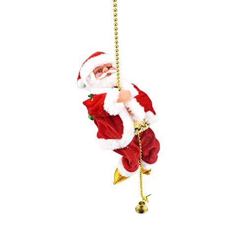 ration Santa Claus Electric Climbing Hängende Weihnachtsverzierung Spielt (Mehrfarbig) ()