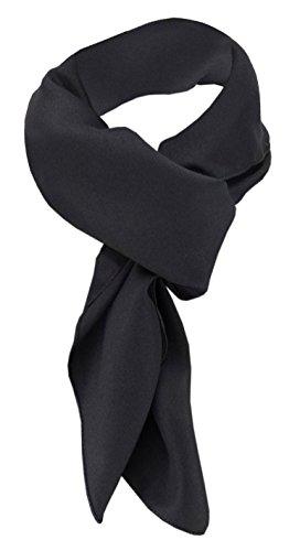 TigerTie - pañuelo de gasa - negro monocromo tamaño 90 cm x 90 cm - bufanda