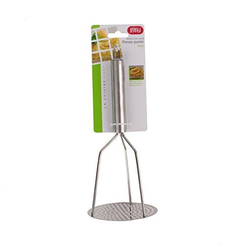 Easy Make ku6258Manueller Kartoffelstampfer Edelstahl Silber 9,70x 9,70x 23cm