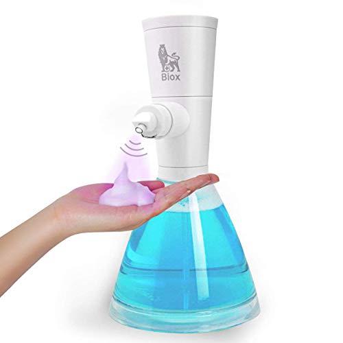 HENGQIANG Dispensador automático de jabón de acero inoxidable resistente a huellas dactilares, dispensador de manos libres para baño, cocina, baño, dispensador de jabón automático (Blase Version 2)