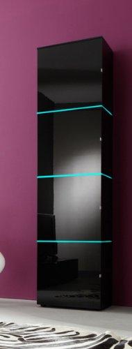 Dreams4Home Regalschrank Square Wohnzimmer Regal weiß o schwarz hochglanz opt LED-RGB-Beleuchtung, Beleuchtung:ohne Beleuchtung;Farbe:Weiß