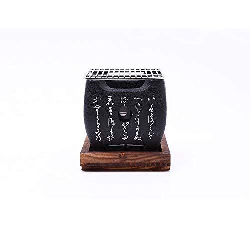 WPCBAA Japanischen Stil BBQ Grill Für 2-4 Personen Holzkohlegrill Aluminiumlegierung Party Zubehör Tragbare Grill Werkzeuge (Size : S)