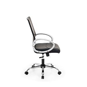 31A8Ov4b4ZL. SS300  - IntimaTe-WM-Heart-Silla-de-Oficina-Moderna-Silln-Giratorio-de-Escritorio-de-Ordenador-Respaldo-a-Media-Altura-Altura-Ajustable-con-Reposabrazos-para-Oficina-en-Hogar-PVC-Negro