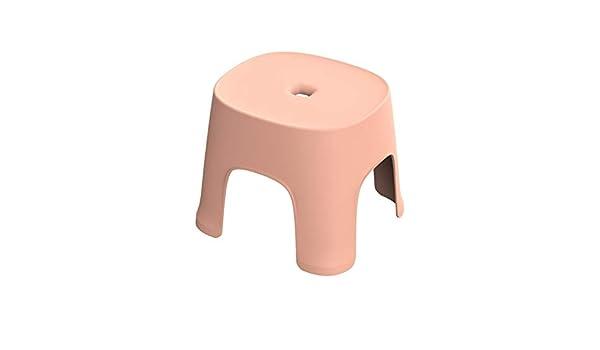 Vaorwne Small Banc Antid/érapant Table Basse en Plastique Simple Tabouret Adult /épaississement Tabouret pour Enfants pour Chaussures Court Tabouret Rose