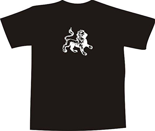 ... Comic Design - Silhouette vom Löwe Mehrfarbig. T-Shirt E1051 Schönes T- Shirt mit farbigem Brustaufdruck - Logo / Grafik -