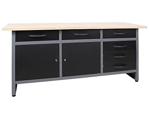 Ondis24 4250627025733 Werkbank, Metall, schwarz / grau, 170 x 60 x 85 cm - 5