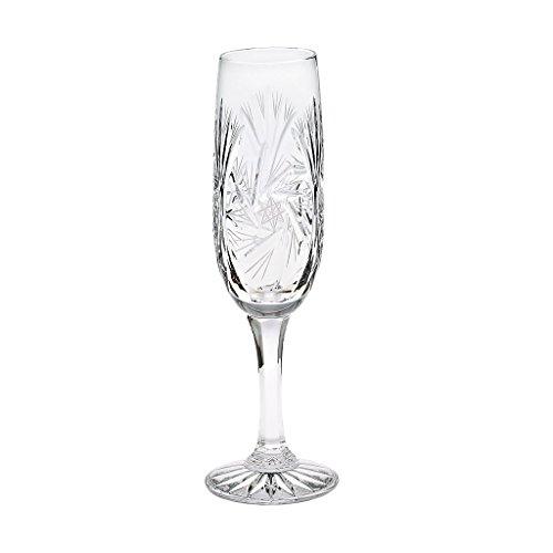 Sektglas Sektkelch Champagnerglas Sektflöte Schleuderstern Transparent Handgeschliffen Kristallglas