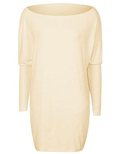 Minetom Damen Herbst Winter Minikleid Pullover Sweater Strickkleid Sexy Mode Elegant Langarm Strickpullover Lang Hemd Gelb