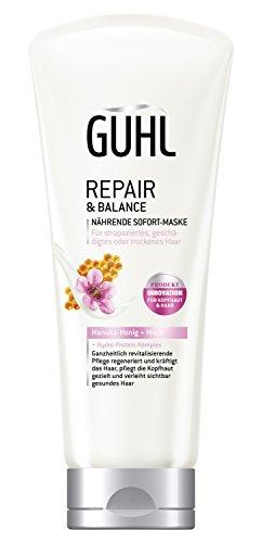 Guhl Repair & Balance Nährende Sofort Maske - 2er Pack (2x 200 ml) - mit Manuka-Honig und Milch - für strapaziertes und geschädigtes Haar