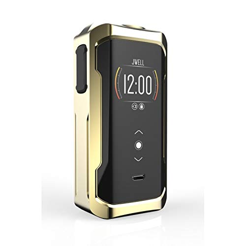 Electronic Zigarette, E MOD JWell Onyx 200W Electronic Cigarette,Ecig Battery with Display Screen,No E Liquid, No Nicotine (Chrome)