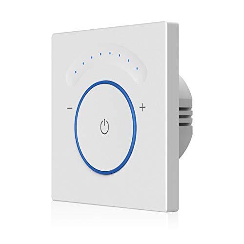 TEEKAR Smart Dimmer Schalter Kompatibel Mit Alexa/Google Home, Timing-Funktion, APP Fernbedienung, WLAN Berühren Lichtschalter AC 110-240 V Für Dimmbare LED INC CFL - Neutralleitung Erforderlich