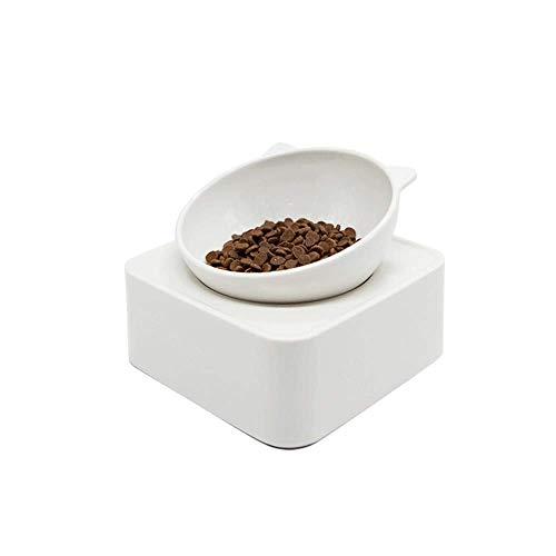 DWLXSH Katzenfutterschalen Katzenfutterschalen rutschfeste Katzen-Doppelschale Tiernahrung Wasserschalen Raised Puppy Food Bowl Stress Relief Feeder Schalen -