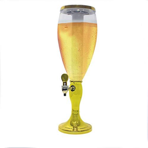 Hmjz macchina della birra torre in plastica da 3l da tavolo - distributore di bevande colorato lucido torre