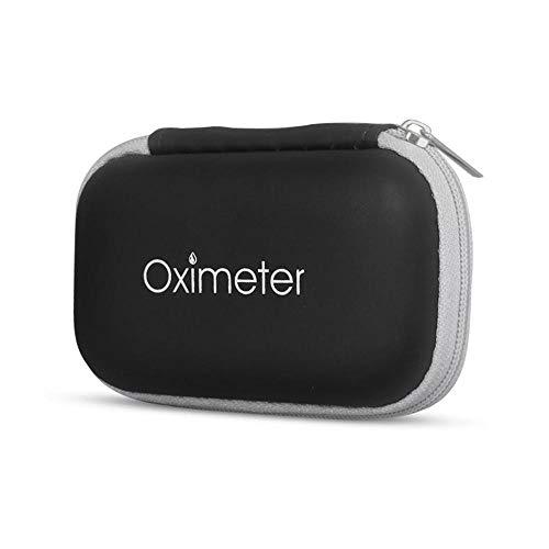 leegoal SP02 Pulsoximeter, tragbar, O2-Sättigungs-Monitor, Tragetasche mit Sauerstoff-Sensor, für Fingerspitzen