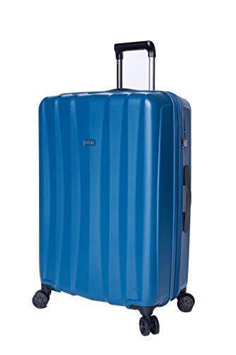 JuMP Koffer mit 4 Rädern, mittelgroß und Jumbo Tanoma (3194EX/3195EX) Blau Blau - Petrol Jumbo / 76 * 52 * 30/34 cm