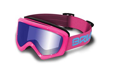 Briko Geyser – Masque de ski unisexe, couleur ROSE, Taille unique