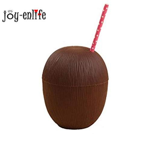 Ququet hawaii luau ananas / cocco bicchieri per bevande in plastica fenicottero portabicchieri gonfiabile stoviglie estate spiaggia forniture per feste @ 1pcs_coconut