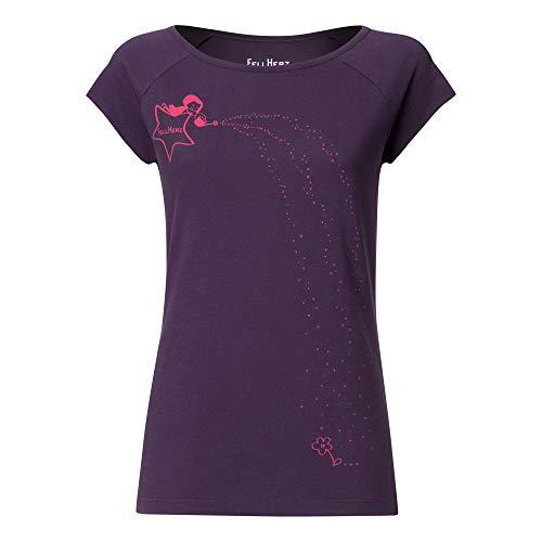 FellHerz Damen T-Shirt Sternenmädchen Violett Bio Fair, Größe:XL -