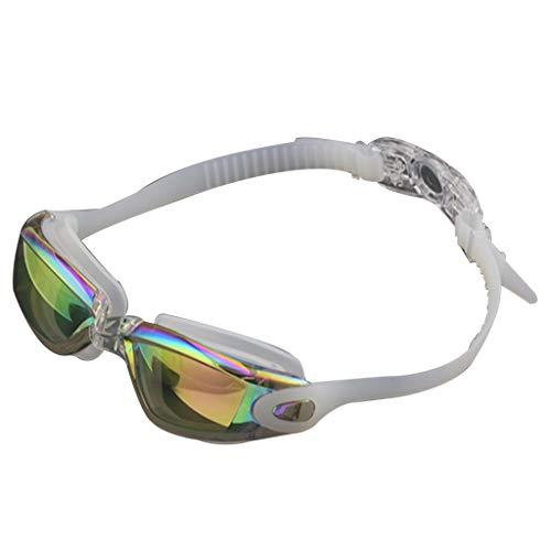 Schwimmbrille Kappe Ohrhörer Nasal Clip Set Wasserdichte Anti-Fog UV-beständige Schwimmbrille Verstellbare Elastische Kopfband -