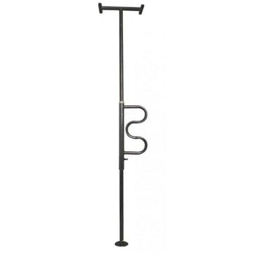 Security Pole Aufstehhilfe (mit Haltegriff, Anbringung zwischen Boden und Decke (schwarzes Finish)) (Boden-decken-stange)