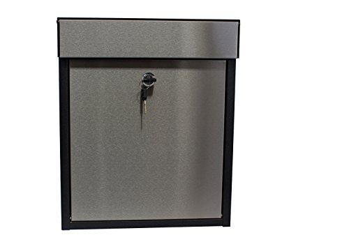 qualarc wf-p010Woodlake Wandhalterung rechteckig verzinkt und Edelstahl Sperren Mailbox, schwarz/silber -