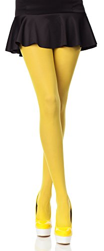 Merry style collant da donna opaco in microfibra 40 den (giallo, 4 (40-44))