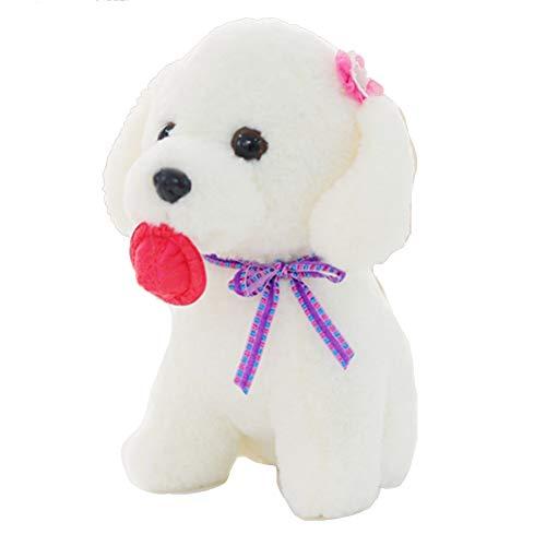 YUnnuopromi Niedliche Welpen-Spielzeug, Teddyhund, gefüllt, weiches Plüschtier Cartoon-Spielzeug für Kinder