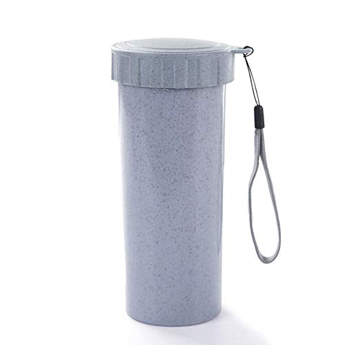 Huacat Reise Becher Büro Kaffee Tee Wasser Flasche Tassen Stroh Weizen Tasse Wasserflasche mit stufiger Filtration Aktivkohle entfernt Bakterien Protozoen tassen Gourmet-becher