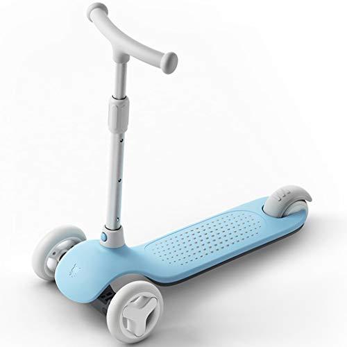 GYY SHOP Kinder Bord Auto 3 Rad Yo Auto 3-6 Jahre alt Baby 78cm blau Kind Paddle Board Skateboard (Color : Blue, Size : 59.7 * 29.4 * 78CM)