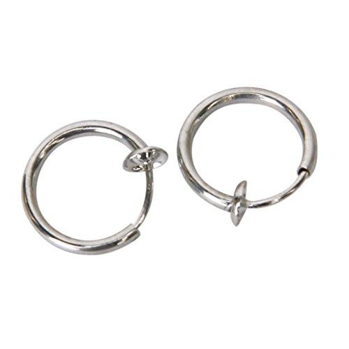 Clips dell\'orecchio - TOOGOO(R) Risultati dell\'orecchino 12 mm primavera Ear clip senza buchi alle orecchie