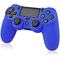 GAMINGER Custodia cover gel in gomma siliconica protettiva per Dualshock Controller Sony Playstation 4 – Blu