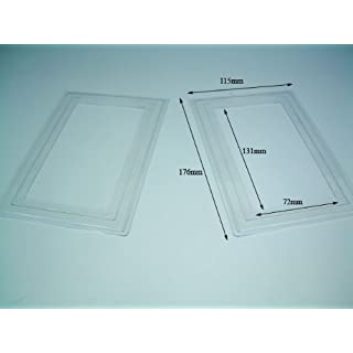 2 x Double light switch finger plates. Clear Plastic.