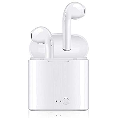 RASQDDZeu Écouteurs sans Fils Bluetooth, Haute qualité sonore stéréo, Petit et léger, ergonomie permettant Une Tenue optimale dans Les Oreilles, résistants à la Sueur.
