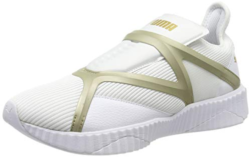 Puma Damen Defy Cage WN's Fitnessschuhe, Weiß White-Gold, 39 EU