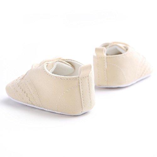 Clode® Bébés filles Leopard Bowknot Soft Sole Chaussures souples Chaussures plates (6~12 mois, kaki) kaki
