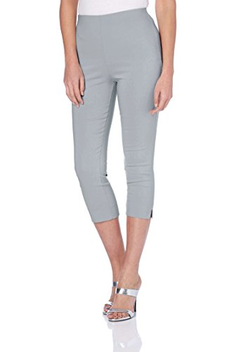 Roman Originals Women Cropped Stretch Bengaline Trousers - Ladies Midi Capri Pants Holiday Daytime Crop Trouser
