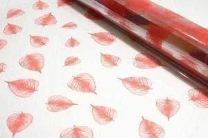 10m x 80cm rotolo rosa confetto skeleton leaf cellophane wrap. qualità fiorista bouquet / regalo / cesto / per confezione cesti