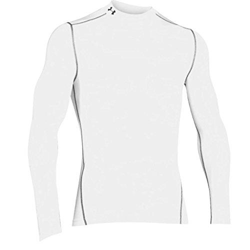 Under Armour Herren UA CG Armour Mock Fitness-Sweatshirts, White/Steel, L