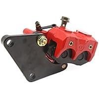 sourcingmap® Conjunto de la bomba de metal rojo Accesorio de Motocicleta scooter Negro freno trasero Pieza Recambio para Moto Yamaha ZY125